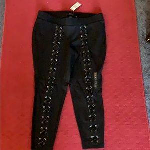 Torrid Size 2 Lace Up Luxe Leggings Black